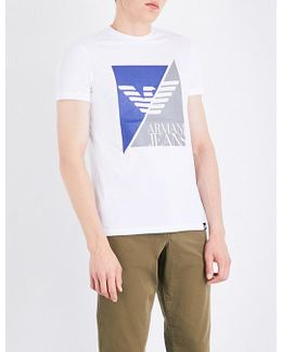 Split Eagle Stretch-cotton T-shirt