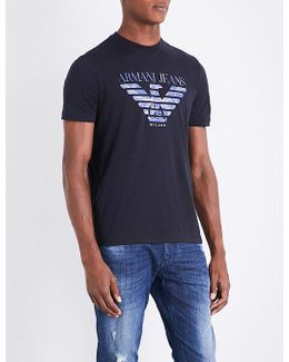 Milano Eagle-print Cotton-jersey T-shirt