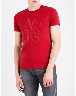 Rubberised Logo-print Cotton-jersey T-shirt