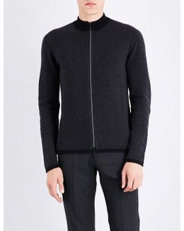 Twill Knitted Cashmere Jacket