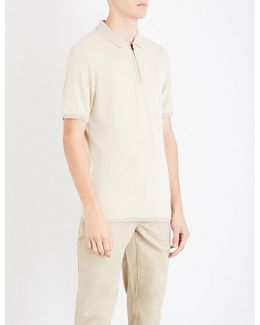 Zip-up Stretch-jersey Polo Shirt