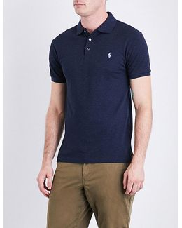 French-terry Towelling Polo Shirt
