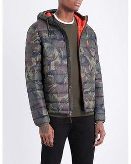 Camouflage-print Shell-down Jacket