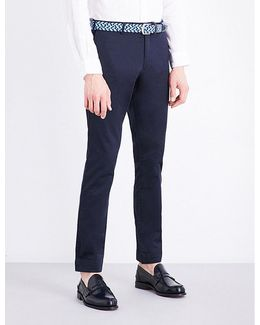 Slim-fit Tapered Stretch-cotton Trousers