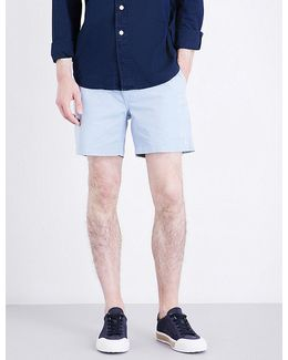 Classic-fit Stretch-cotton Shorts