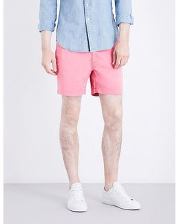 Classic-fit Mid-rise Stretch-cotton Shorts
