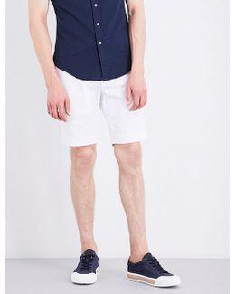Slim-fit Stretch-cotton Shorts