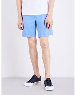 Straight-fit Cotton Shorts