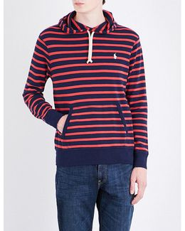Striped Cotton-jersey Hoody