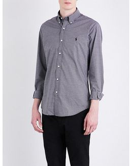 Tablecloth-checked Slim-fit Cotton Shirt