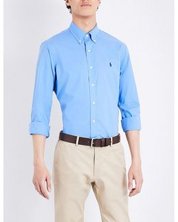 Slim-fit Stretch-cotton Sports Shirt