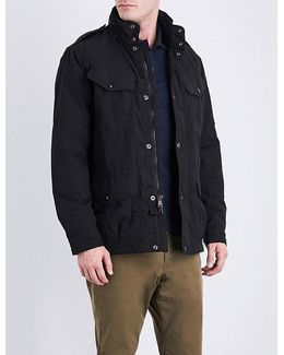 Concealed-hood Shell Jacket