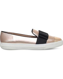 Lisa Metallic Slip-on Trainers