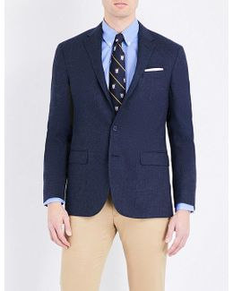 Checked Wool And Silk-blend Blazer