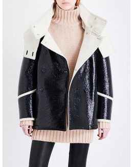 Bethwin Faux-leather And Wool Coat