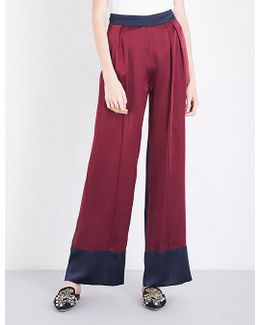 Wide Silk-satin Trousers