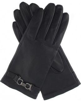 Hardware-detail Leather Gloves