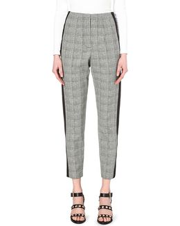 Empire High-rise Cropped Crepe Trousers