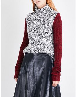 Contrast-sleeve Wool-blend Jumper