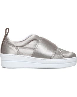 Labelle Slip-on Satin Trainers