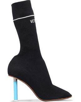 Sock Jersey Heeled Ankle Boots