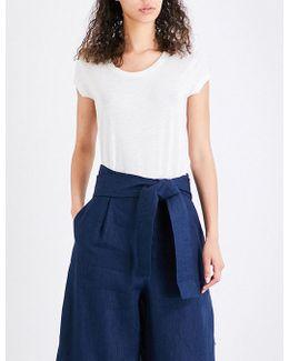 Hetty Linen-blend T-shirt
