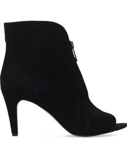 Haydah Suede Heeled Ankle Boots
