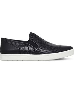 Paeyre-2 Perforated Leather Trainers