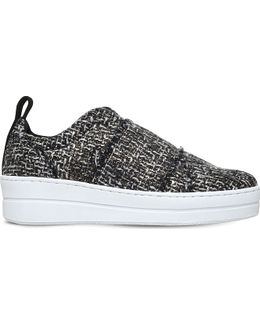 Labelle Slip-on Thatched Trainers