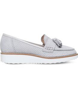 Limbo Snake-effect Leather Loafers