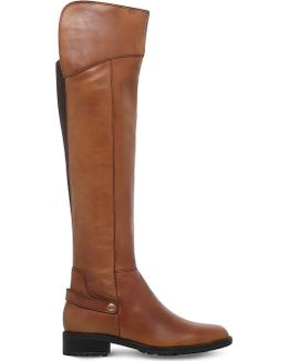 Vivian Leather Knee-High Boots