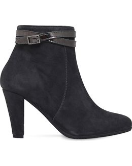 Rolo Suede Heeled Ankle Boots
