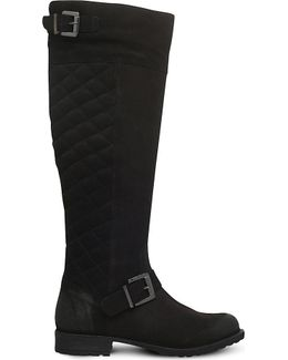 Warrick Quilted Suede Boots
