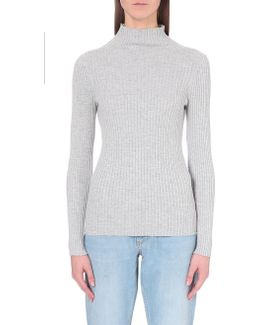 Bambino High-neck Ribbed-knit Jumper