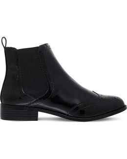Sneek Brogue Patent Boots