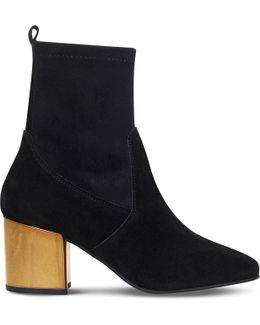Slick Detail Heeled Ankle Boots