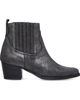 Strummer Metallic Leather Ankle Boots