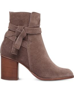 Sleepy Faux-Suede Ankle Boots