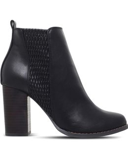 Scorpion Heeled Ankle Boots