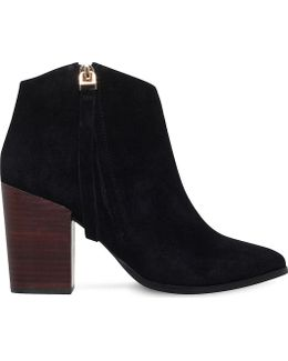 Smashing Zipped Suede Ankle Boots