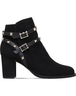 Rockstud 70 Suede Ankle Boots