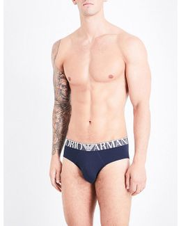 Italy Stripe Regular-fit Cotton-jersey Briefs