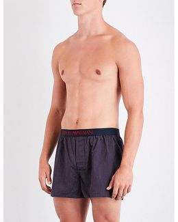 Dot-patterned Relaxed-fit Woven Boxers