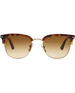Po3105s Vintage Celebration Round-frame Sunglasses
