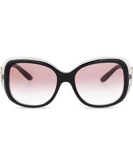 Bv8172b Giardini Italiani Round-frame Sunglasses