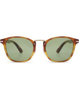 Po3110s Typewriter Edition Round-frame Sunglasses