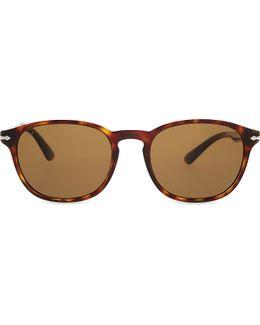 Po3148s Round-frame Sunglasses
