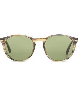 Po3152s Galleria '900 Round-frame Sunglasses