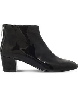 Anna3 Zipped Patent Ankle Boots