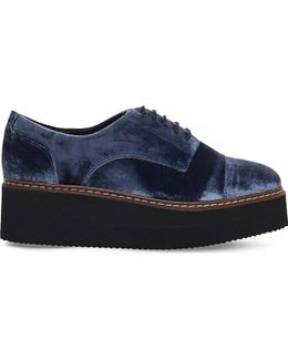Love Velvet Flatform Shoes